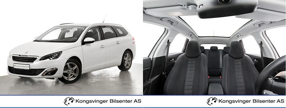 familiebil 1 - Strøken Peugeot 308 1,6 BlueHDI 120 hk