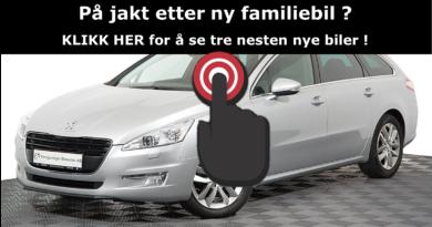 3 gode – nesten nye familiebiler