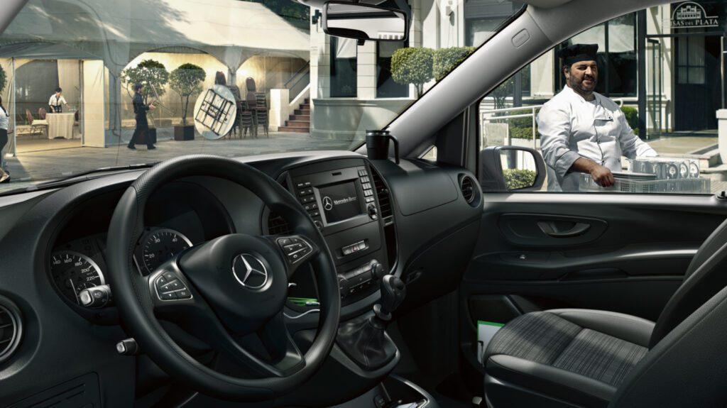 Interiørbilde av Mercedes Benz Vito