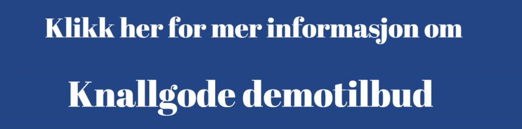 Knapp for mer informasjon om demotilbud